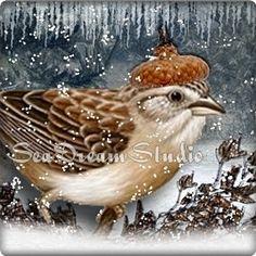 icy snow bird banner in my shop seadreamstudio.etsy.com