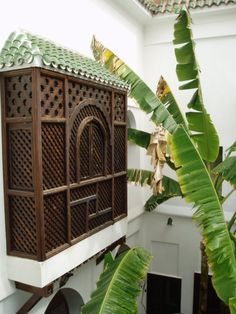 back yard - hide electric meter (this is a riad in Marrakech) *****