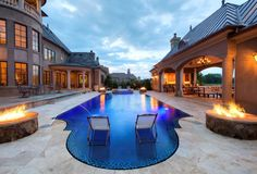 Grecian Style Pool located in Charlotte, NC built by Blue Haven Pools.
