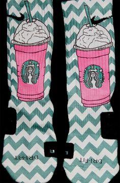 The Sickest Socks — Starbucks Second Edition Inspired Elites Nike Elite Socks, Nike Socks, Athletic Socks, Athletic Outfits, Foot Warmers, Basketball Socks, Custom Socks, Nike Shoes Outlet, Cool Socks