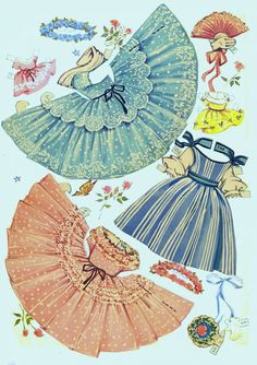 Umbrella Girls 1956 partial cut set - Bobe Green - Picasa Web Albums