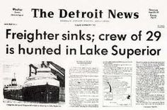 Edmond Fitzgerald Shipwreck. Great Lakes Map, Great Lakes Ships, Detroit News, Detroit Michigan, The Cruelest Month, Edmund Fitzgerald, Lake Boats, The Fitz, Benton Harbor