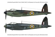 Ww2 Aircraft, Military Aircraft, De Havilland Mosquito, Old Planes, Battle Of Britain, Mosquitoes, Royal Air Force, Aviation Art, Wwii