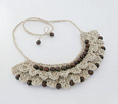 Crochet Hemp Bibb Necklace   Www.facebook.com/beadedhemptations