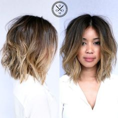 Long Messy Ombre Bob