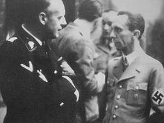 Joseph Goebbels talking with Joachim von Ribbentrop