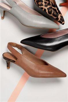 Buy Tan Leather Kitten Heel Slingbacks from the Next UK online shop