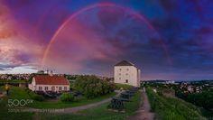Kristiansten Festning in a wonderful midnight sky by Aziz_Nasuti