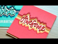 Stacked Die Cuts + Blog Hop + Giveaway - Jennifer McGuire Ink