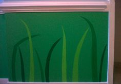 The grass I painted in L's Eric Carle room