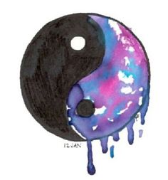 Colorful Ying Yang colorful peace