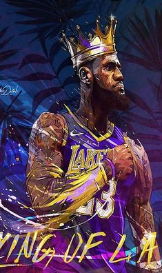 My painting of the new king of the NBA Los Angeles Lakers, Lebron James. Lebron James Lakers, King Lebron James, King James, Lebron James Wallpapers, Nba Wallpapers, Mvp Basketball, Basketball Pictures, Pickup Basketball, Curry Basketball
