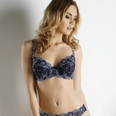 I like the vintage inspired print on this Patricia Eve basque ...