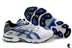 53a579b42f7 Asics Gel Stratus 2.1 White Blue Grey 0608 Asics Running Shoes