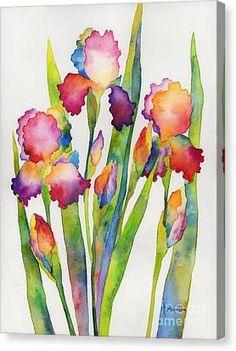 Iris Painting, Watercolor Painting Techniques, Abstract Watercolor, Watercolor Illustration, Watercolor Flowers, Painting & Drawing, Watercolor Paintings, Watercolors, Iris Drawing