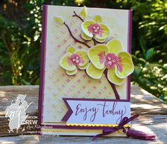 Climbing Orchid, Stampin' Up! Colour INKspiration, CI With a bow on top Flower Cards, Paper Flowers, Stampin Up Catalog 2017, Orchids Painting, Pop Up Box Cards, Marianne Design, Heartfelt Creations, Stamping Up, Stampin Up Cards
