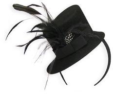 Fascinator, Mini Top Hat - Black