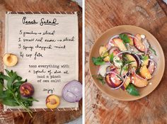 A savory summer salad- refreshing flavor combination!  by Erin Gleeson for The Forest Feast