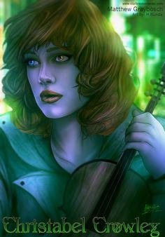 Christabel Crowley from Starbreaker.  Artwork by Harvey Bunda