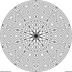 images of printable hard geometric coloring pages geometripcom free geometric coloring designs
