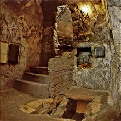 The burial tomb of Lazarus of Bethany, www.ffhl.org #Franciscan #HolyLand