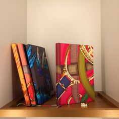 I love these note books with silk from Hermès!  #Hermès note books