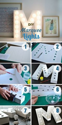 Check out how to make easy DIY Marquee Lights @istandarddesign