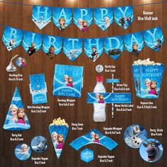 Disney Frozen Birthday Party Mini Package Digital by VintageDS, $24.99