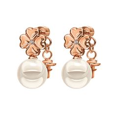 Pearl Muse Rose Gold Plated Κοντά Σκουλαρίκια, , hires