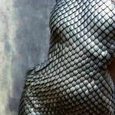 Dress of metal scales.looks like mermaid scales Vikings, Yennefer Of Vengerberg, Mother Of Dragons, Red Queen, Dragon Age, Dragon Skin, Grey Warden, Skyrim, Dungeons And Dragons