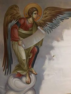 GESU' E' DI RITORNO ORA!: Messaggio dell'Angelo del Signore D N Angel, Angel Art, Byzantine Icons, Byzantine Art, Religious Icons, Religious Art, All Archangels, Christ The King, Religious Paintings