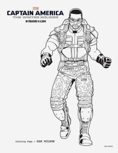 5 CAPTAIN AMERICA THE WINTER SOLDIER Coloring Sheets To