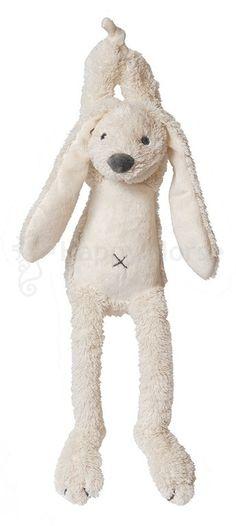 Spieluhr - Hase Richie - elfenbein - Maße: 34 cm - Farbe: elfenbein - Schonwäsche 30 °C - waschbar mit Spieluhr - Melodie: Over the Rainbow