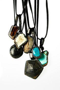 Monies Horn, Bone, Turquoise Necklace