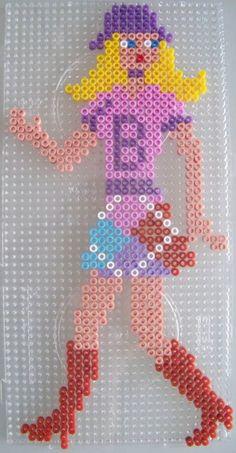 Barbie hama perler by Les loisirs de Pat