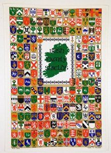 St. Patrick's Day Ulster Linen Irish Family Name Shields. Kitchen Tea towel with all the Family last name shields. Made in Ireland.