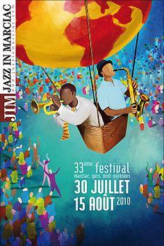 "Affiche du festival ""jazz in marciac 2010"""