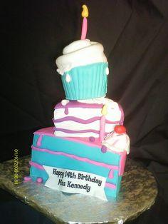Kennedy's 14th Birthday cake by lilthorner, via Flickr