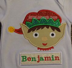Applique Elf embroidery pattern by HugLonger on Etsy
