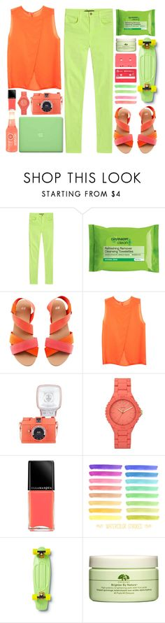 """""""Untitled #24"""" by junotsalis ❤ liked on Polyvore featuring J Brand, H&M, MAC Cosmetics, GUESS, Illamasqua, Quiksilver and Origins"""