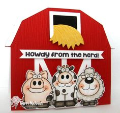 Howdy from the Herd! by girlydecou - Cards and Paper Crafts at Splitcoaststampers