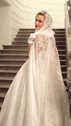White Ivory Lace Long Hooded Cloaks Mantle Wedding Dress Shawl Bridal Gown Cape #CloaksCapes