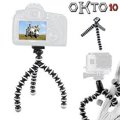 OKTO10 10' Flexible Bendable Octopus Tripod with Quick-Release Plate for Digital Camera * Read more reviews of the product by visiting the link on the image. (This is an Amazon Affiliate link and I receive a commission for the sales)