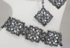 Alexandra Bracelet and Earrings at AroundTheBeadingTable.com