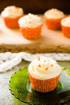 Spring Carrot Cupcakes - from Cupcake Project