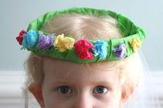 Tissue paper head wreath!