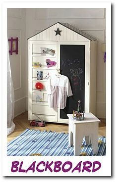 Beach hut wardrobe idea
