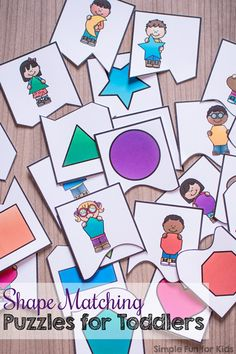 Shapes for toddlers - Shape Matching Puzzles for Toddlers – Shapes for toddlers Matching Games For Toddlers, Shapes For Toddlers, Puzzles For Toddlers, Kids Learning Activities, Preschool Activities, Shape Activities, Printable Shapes, Teaching Shapes, Shape Games
