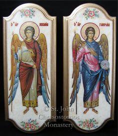 Religious Icons, Religious Art, Angeles, Byzantine Icons, Orthodox Icons, Blessed Mother, Christian Art, Roman Catholic, Cherub