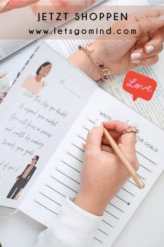 Ziele erreichen war noch nie schöner! Hol dir das Erfolgsjournal mit Affirmationen für Erfolg! Werde erfolgreich und nutze den Planer zusätzlich für die tägliche Organisation oder als Tagebuch. Notizbuch für Freundin | Reich werden | Gedanken steuern | Gedanken strukturieren | Mindset Sprüche Erfolg | Journaling Ideen | Journal Inspiration | Ziele Bullet Journal Co2 Neutral, Setting Goals, Successful People, Journal Inspiration, Planer, Mindset, Journaling, Bullet Journal, Let It Be